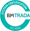 BM Trada System Certificate ISO-9001