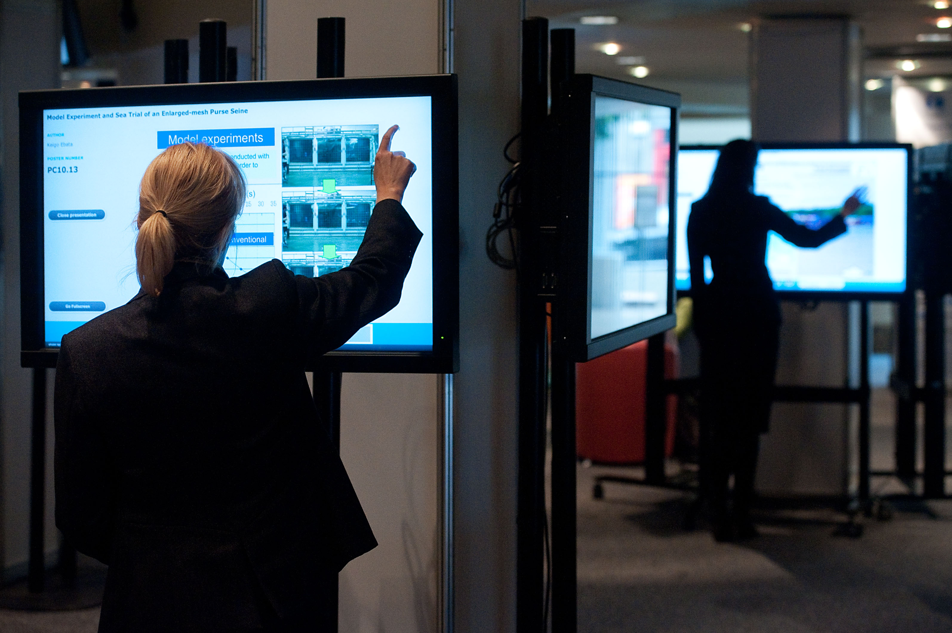 Digital poster boards at World Fisheries Congress 2012.jpg